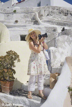Judy Reinen - Art Food & Shopping Explorer on Santorini